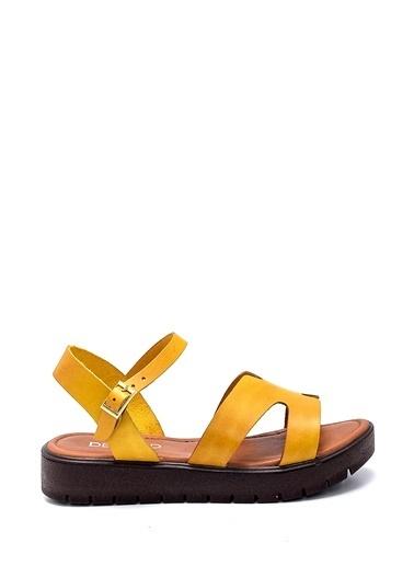 Derimod Kadın Sandalet (336) Casual Sarı